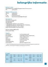 belangrijke informatie - OSG Erasmus