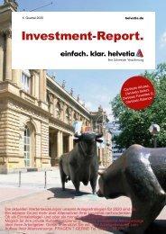 Wertentwicklungen der Anlagestrategien für 2020