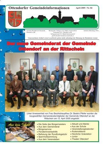 April 2005 / Nr. 84 - Ottendorf an der Rittschein