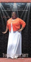 Memorial Program for Neisha Scott