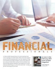 Financial Professionals Stand Alone - February 2021