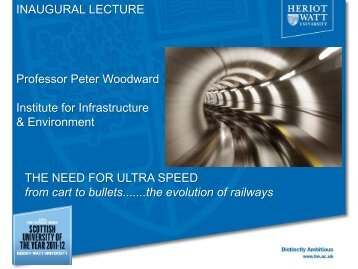 lecture - School of the Built Environment - Heriot-Watt University