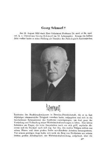 Nekrolog Georg Schmorl