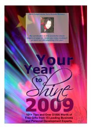 Your Year to Shine in 2009 - Natural skin care