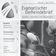 Gemeindebrief Pocking 2-2021