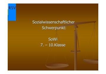 Sozialwissenschaftlicher Schwerpunkt: SoWi 7. - Realschule Vlotho