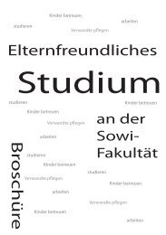 Elternfreundliches Studium - Fakultät für Sozialwissenschaft der ...