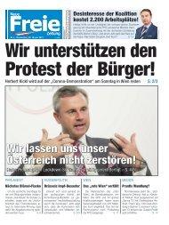 Wir unterstützen den Protest der Bürger!