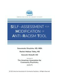 Self-Assessment for Modification of Anti-Racism Tool-SMART