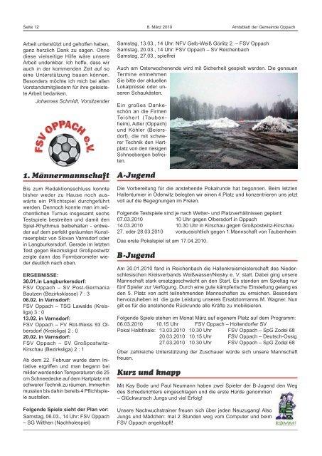 Informationen aus der Stern- warte Sohland - Oppach