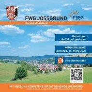 Wahlbroschüre Freie Waehler Jossgrund