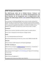 SOWI-Therapie nach Sonja Wierk - Multiple Sklerose Selbsthilfe