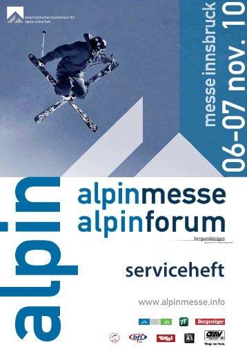 Achtung! Einsendeschluss: 14.10.2010 - Alpinmesse