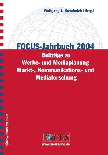 FOCUS-Jahrbuch 2004 - FOCUS MediaLine