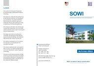 SOWI Auf einen Blick - Sozialwissenschaftliches Institut der ...
