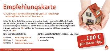 Empfehlungskarte - Sparkasse Mittelsachsen