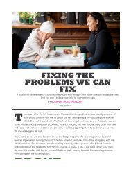 Fixing Problems We Can Fix- The Philadelphia Citizen Publication, highlighting programming initiated by Dawn Holden Woods