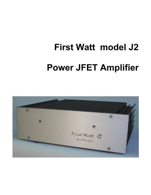 J2 Manual - First Watt
