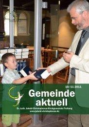 Gemeinde aktuell 10/11 2011 - Jakobikirche