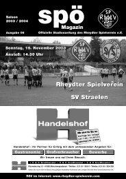 Unser heutiger Gegner: SV Straelen - staubesand.de