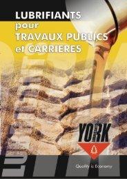 YORK PLAQUETTE TRAVEAUX PUBLIQUE ET CARRIERES