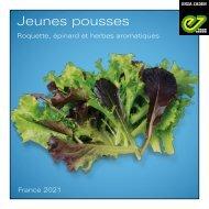 Catalogue Jeunes-pousses, roquette, épinard et aromatiques - 2021
