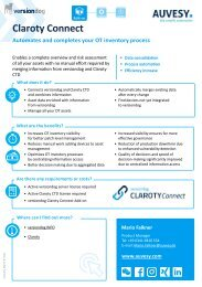 onePager Claroty Connect