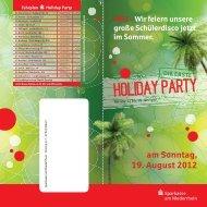 HOLIDAY PARTY - Sparkasse am Niederrhein