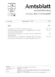 der Stadt Rhinberg - Rheinberg