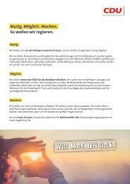 Das Regierungsprogramm der CDU Rheinland-Pfalz
