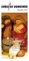 Das Volk, das im Finstern lebt, sieht ein großes Licht - Christus ...