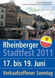 stadtfest seiten 2011 - Werbegemeinschaft Rheinberg
