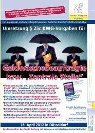 Zentrale Stelle - Finanz Colloquium Heidelberg