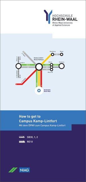 NIAG-Fahrplan zum Campus Kamp-Lintfort - Hochschule Rhein-Waal