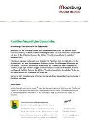 Familienfreundliche Gemeinde - Marktgemeinde Moosburg