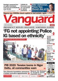 02022021 - 'FG not appointing Police IG based on ethnicity