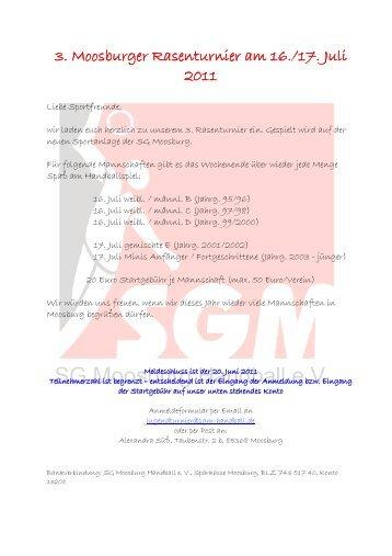 Einladung Turnier Update3 - Handball Verein der SG Moosburg ...