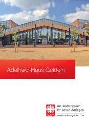 Hausbroschüre Adelheid-Haus Geldern
