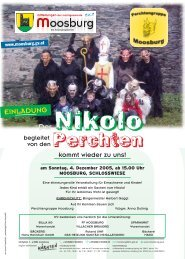 EINLADUNG … Dezember 2005 - Moosburg