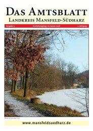 Das Amtsblatt - Landkreis Mansfeld-Südharz
