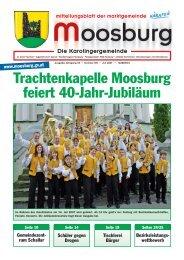 Trachtenkapelle Moosburg feiert 40-Jahr-Jubiläum - Marktgemeinde ...