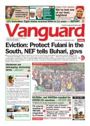 03022021 - Eviction: Protect Fulani in the South, NEF tells Buhari, govs