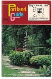 Portland Guide 1978 (Oregon)