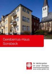 Hausbroschüre Gerebernus-Haus Sonsbeck