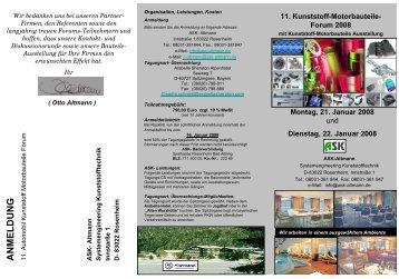 11. Kunststoff-Motorbauteile- Forum 2008 - Plasticker