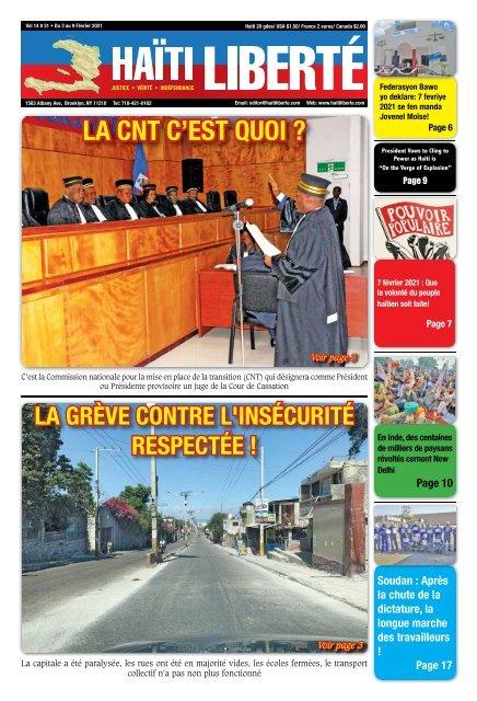 Haiti Liberte 3 Fevrier 2021
