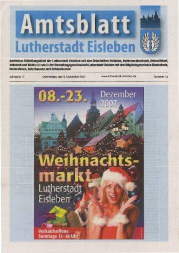 Luffrerstadt ffinsteben - Lutherstadt Eisleben