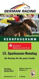 15. Sparkassen-Renntag - Mülheimer Rennverein Raffelberg eV