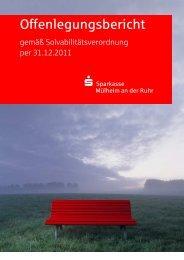 Offenlegungsbericht - Sparkasse Mülheim an der Ruhr