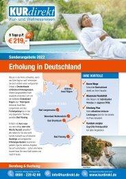 Vital Tours Sonderangebote 2021 Erholung in Deutschland   Eigenanreise